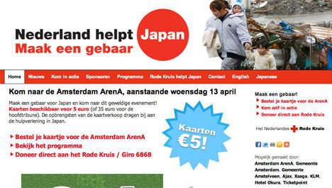 Screenshot van NederlandhelptJapan.nl